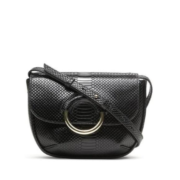 Banana Republic Handbags - Banana Republic Mini Saddle Bag Crossbody Black